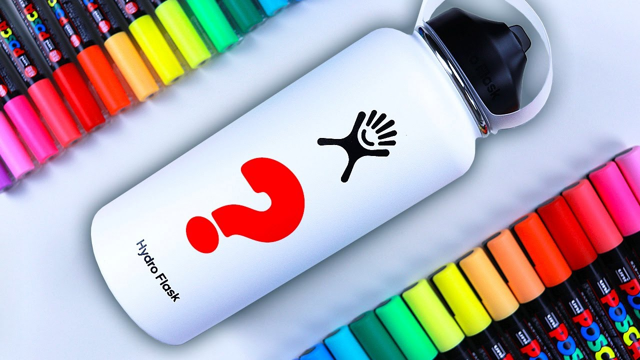 Custom Painting a HYDRO FLASK?! *oddly satisfying*