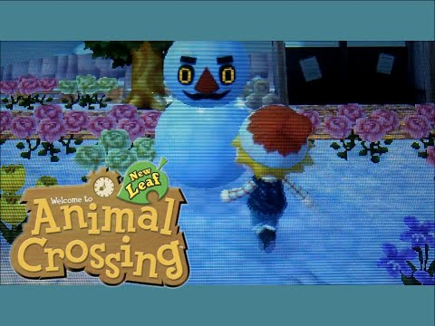 Animal Crossing: New Leaf - Let's Make a Snowman!