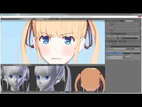 Texturing/Rendering Anime characters in Blender [Tutorial]