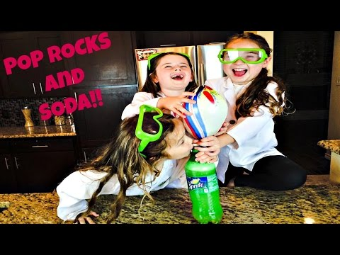 PopRocks and Soda Experiment!  Inflate a Balloon using PopRocks and Soda
