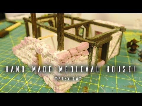 How to make a hand made miniature Medieval House - from SCRATCH! *preview*