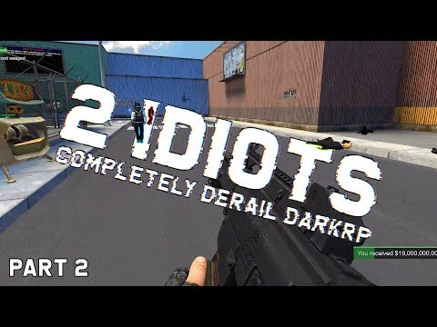 2 IDIOTS COMPLETELY DERAIL FOREIGN SERVERS & GET BANNED [2/2]   Gmod Gameplay