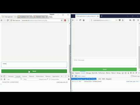 Chat application in PHP & MySQL: Send and receive messages part4