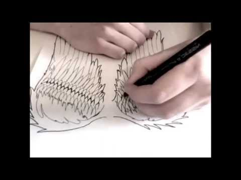 Drawing Angel Wings