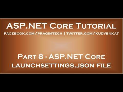 ASP NET Core launchsettings json file