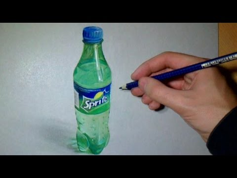 Drawing realistic Sprite Bottle o: