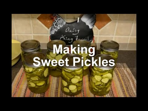 Making Sweet Pickles Right From Our GARDEN!