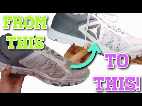 HOW TO CLEAN YOUR TENNIS SHOES! | DIYHOLIC