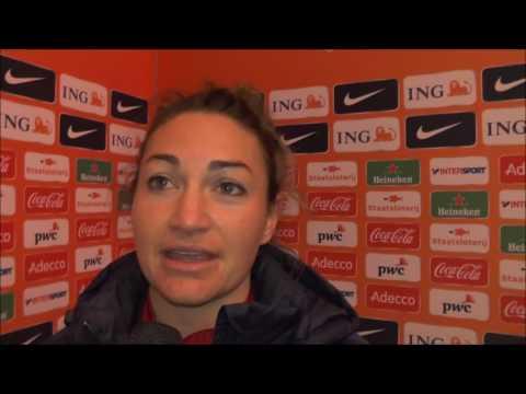 Jodie Taylor after Netherlands – England on 29.11.2016