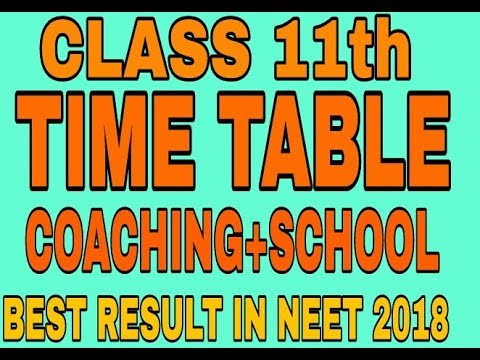 11th class TIME TABLE #COACHING+SCHOOL how to cope up with SELF STUDY.