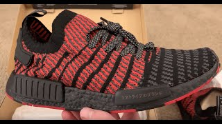 c4c1ff3a0 Adidas NMD R1 PK STLT Collegiate Red Unboxing From StockX 🔥