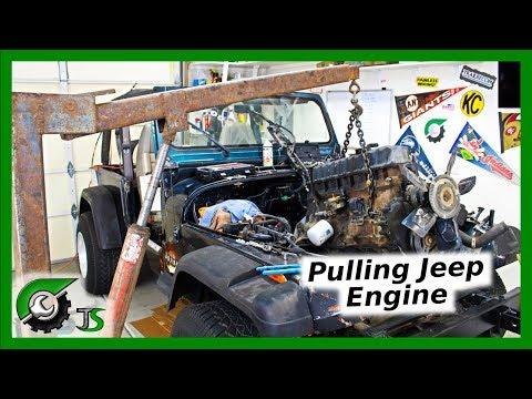 Jeep 4.0 Engine Removal: Rebuild Part 1