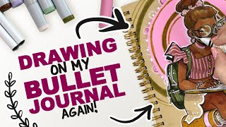 Download DRAWING ON MY BULLET JOURNAL! ...again! | Copic Markers + Acrylic Paint Video