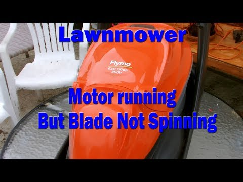 Lawnmower motor running but blade not spinning