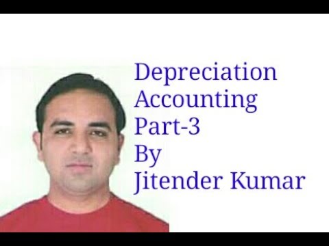 Depreciation Accounting- Diminishing Balance Method- Part 1- By Jitender Kumar