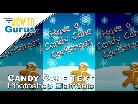 Photoshop Elements Candy Cane Text 2019 2018 15 14 13 12 11 Christmas Card Templates