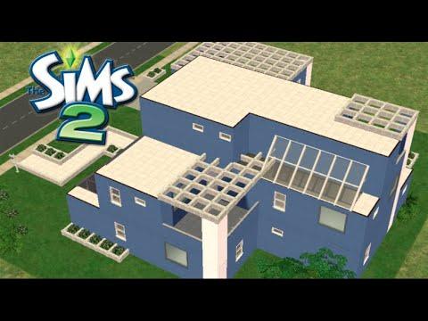 ♢ Modern Blue & White House♢ The Sims 2 ♢