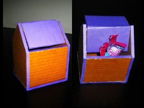 DIY - Cardboard Trash Bin Tutorial - Origami Trash Bin