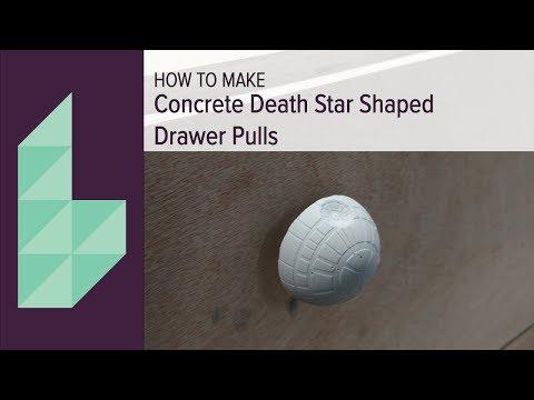 DIY Concrete Death Star Drawer Pulls
