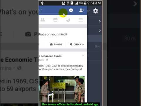 How to turn off chat in Facebook android app