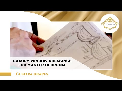 Video #5: Bedroom Curtain Design | Swarovski Crystal Drapery Hardware | Galaxy Design