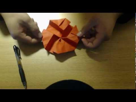 Origami Kawasaki Rose Variation Tutorial