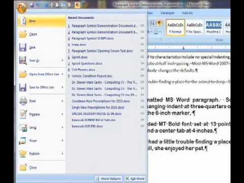 Microsoft Word's Paragraph Symbol:  The Key to Understanding Powerful Formatting in Word Documents