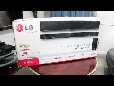 UnBoxing LG Sound Bar 300W Stylish Slim Model NB3530A Review