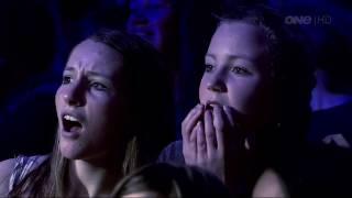 """Andre Vegas Magician New Zealands Got Talent 2012 Semi Final 1 """" BLADE """" Illusion"""