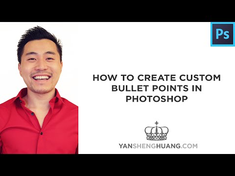 Photoshop Tutorial: How to Create Custom Bullet Points