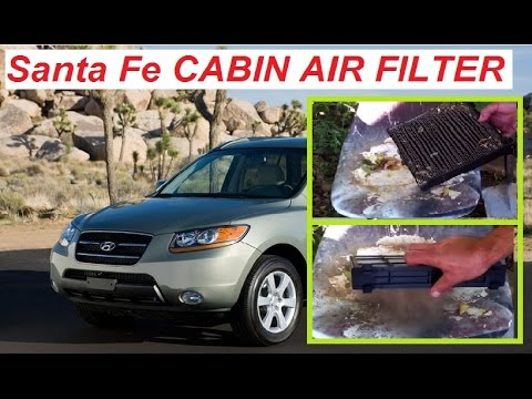 How to replace Cabin Air Filter on a Hyundai Santa Fe 2006-2012