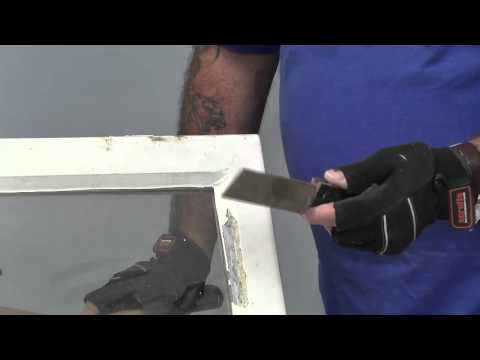 How to remove a pane of glass by chopping putty from window frames