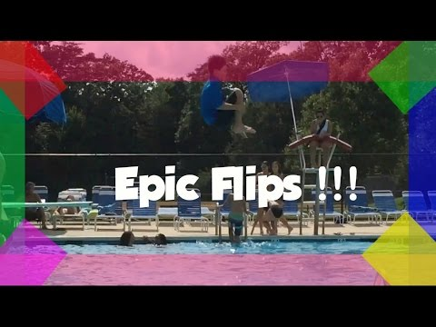 SUPER COOL FLIPS!!! Basement, trampoline, and diving board!