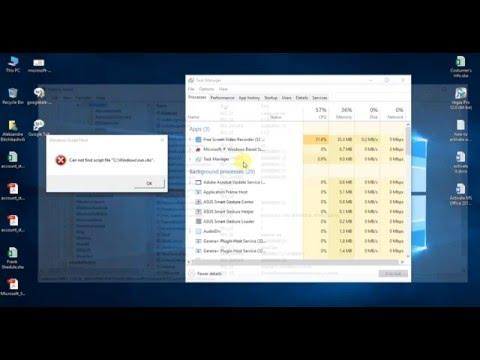 Windows Script Host (Can not find script file