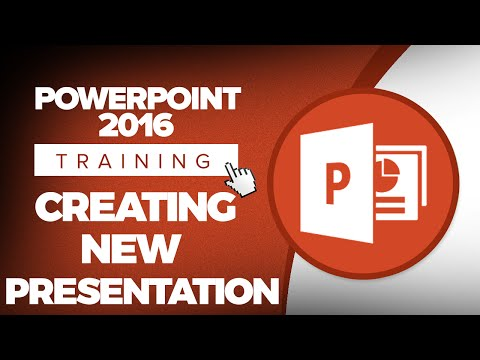 How to Create a New Presentation in Microsoft PowerPoint 2016