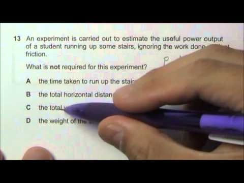 2011 O' Level Physics 5058 Paper 1 Solution Qn 11 to 15