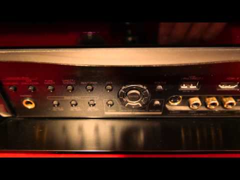 Denon avr-4810 front face with flap opened in 4k