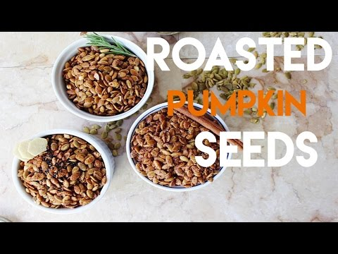 Roasted pumpkin seeds 3 ways // MoreSaltPlease