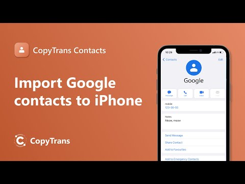How to directly copy Gmail contacts to iPhone