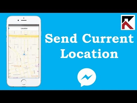How To Send Your Current Location In Facebook Messenger iPhone