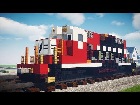 Minecraft Norfolk Southern Safety Train GP38-2 Tutorial