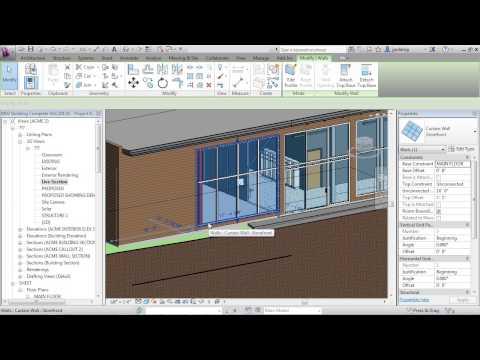 Advanced Revit Architecture 2013 Tutorial | Make Window Wall Type