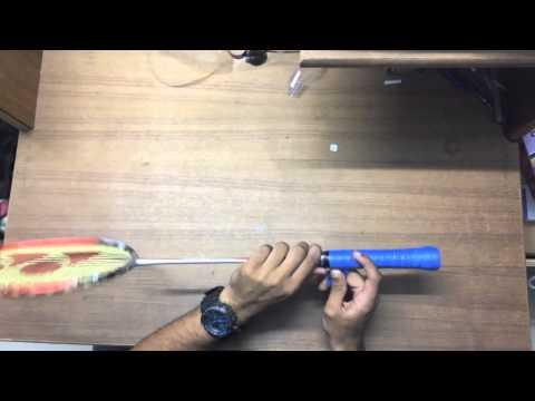 How to wrap a Yonex Badminton Racquet Grip