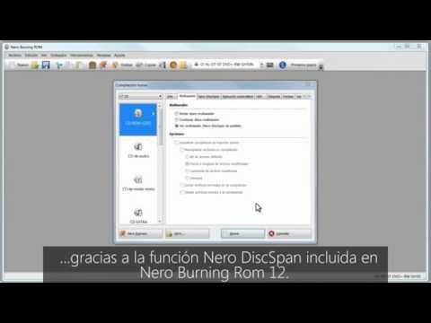 Cómo utilizar Disc Span en Nero Burning ROM