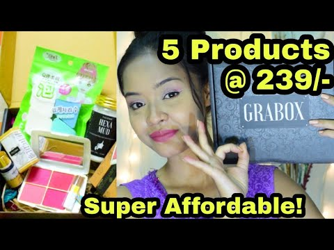 Super Affordable Beauty GRABOX Unboxing || February Beauty Grabox || Sayantani Some || kolkata India