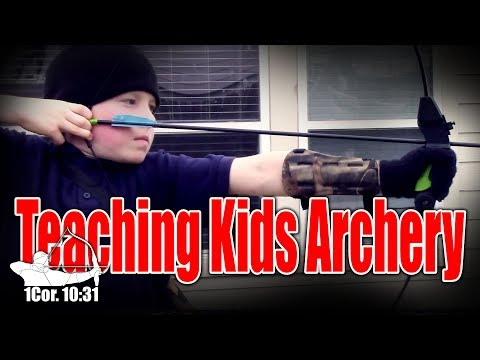 Teaching kids Archery in 4 QUICK and EASY steps. #archerytips #Tradlife