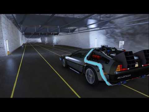 DeLorean Time Tunnel - GTA V - Back To The Future