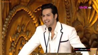 VARUN DHAWAN & RICHA CHADDA | Best Comedy Hosting in award show 2018