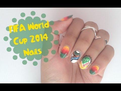 Fifa World Cup 2014 Nails | CuteNailPolishArt
