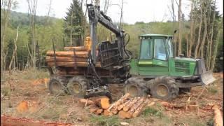 Extraction de bois | John Deere 1710D | 2015 - PakVim net HD Vdieos